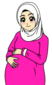 kartun-ibu-hamil-muslimah